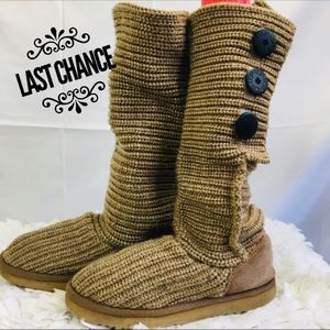 Ugg Classic Cardy Button Detail Sweater Boot 7